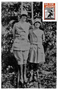 Auntie Flo and Olive, Land Army WW1